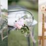 Decoración de sillas con flores