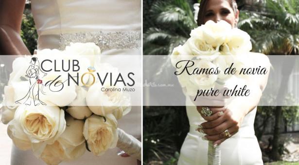 Ramos de novia pure white