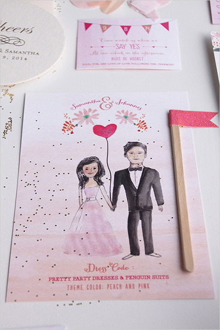 Invitacion-de-boda-con-ilustraciones